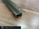 Aluminium Profile Stair Treads Nosing Trim with Anodized Champagne Color