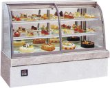 Best Price Front Curved Glass Cake Display Showcase Bread Cake Showcase Display