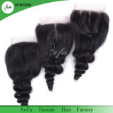 Loose Wave Brazilian Human Virgin Hair Closure with Best Price
