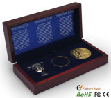 Commemorative Coins Collection Wooden Box
