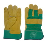 Leather Work Gloves 10.5′′ Protective Wear Safety Builders Cuff Fleece Lining