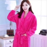Wholesale Thicker Flannel Fleece Bathrobe for Women Plush Robes