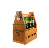 Nostalgia Small Furniture Handmade Arch Handle Antique Pine Wooden Beer Carrier
