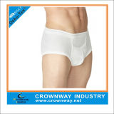 White Cotton Fashion Base Underwear for Men