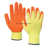 Ce En388 Wholesale Latex Coated Safety Work Gloves with Cotton Liner