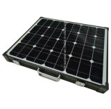 Black Frame Portable Folding Solar Charger 100W For Camping.