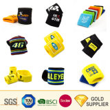 Manufacturer Custom Fashion Sport Embroidery Logo Twill Athletic Wrist Band Design Sponge Plain Headband Terry Cloth Cotton Sweatband for Promotional Gift Set