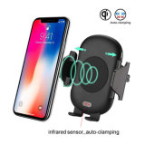 Infrared Automatic Wireless Car Mount Qi 10W Faster Charger for Samsung S9 Plus iPhone 8 10 Xr