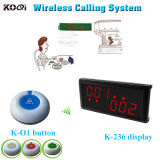 Wireless Table Order Buzzer System Button Caller for Service Display for Counter