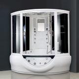 Luxury Tempered Glass Steam Shower Combo Sauna Room with Corner Jacuzzi Bathtub (Y840)
