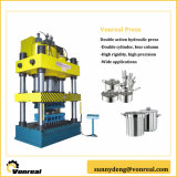 Double Action Hydraulic Press with Four Pillars