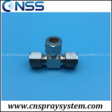 Compression T Adaptor T Fitting for 3/8 High Pressure Pipe