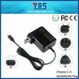Travel Adapter 19V 1.75A USB 6pin Wall Type Laptop Adapter