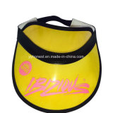 Custom Fashion Cheap Yellow PVC Sun Visor Hat