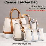 Genuine Real Leather Women Handbags Ladies Tote Handbags Lady Sling Canvas Handbag Fashion Designer Shoulder Hand Bags Wholesale Guangzhou Handbag Factory OEM