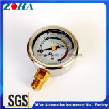 Oil Filled Miniature Pressure Gauges for Caution and Distinguish with Four Color Dial