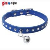 Dog Leather Collar Crystal PU Supply Collar Pet Products