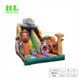 Inflatable Jumper Obstacle Jungle Animal Inflatable Slide