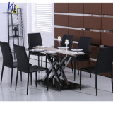 6-8 Seaters Modern Dining Roon Furniture Glass Table
