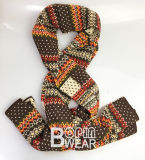 Fashion Ladies Knit Winter Warm Jacquard Neck Warmer Scarf