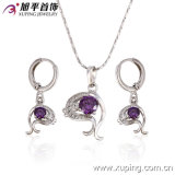 New Products Rhodium Color Fashion Jewelry Set for Ladies (62831)