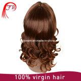 Malaysian Fashion Brown Hair Wig Bob Bangs Human Hair Wig Manufacturer in China