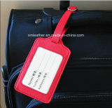 Travel Leather Bag Luggage Tag with Transparent ID Window