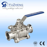 Sanitary 3PC Clamp End Ball Valve with CE, ISO