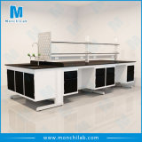 Lab Island Bench with Reagent Shelves