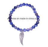 Natural Fashion Crystal Tiger Eye Sodalite Amethyst Beaded Jewelry Chakra Bracelet Bangle