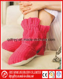 Red Color Hot Sox Winter Warmer Slipper Boot