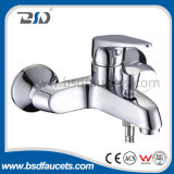 Polishing Chrome Plated Wall Mount Single Handle Bath Sink Faucet