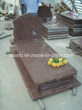 Red Granite European Stype Memorial Tombstone Monuments for Cemetery
