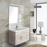 Hot Sale Wholesale PVC Bathroom Vanity with Ceramic Wash Basin