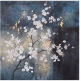 Midnight Flower Oil Picture with HP for Wall Art Painting