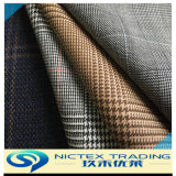 Leisure Polyester Wool Blended Suit Fabric, Wool Suit Fabric, Tartan Suiting Fabric