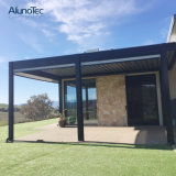 Waterproof Garden Outdoor Aluminum Louver Roof Pergola Gazebo with LED Light