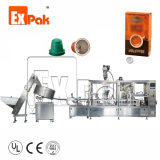 Expak Degradable Compatible High Quality Speed Fully Automatic Coffee Capsule Foil Filling Sealing Packing Machinery for Nespresso K-Cup Lavazza Dolce Gusto