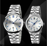 Couple Watch Stainless Steel Case Material Watch Bracelet Customized Logo Waterproof Watch (DC-413)