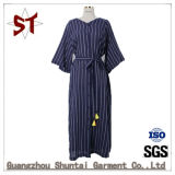 Custom Fashion Stripes Elegant Ladies Long Dress