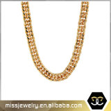 Customized Copper 18K PVD Gold Plated Chain Necklace