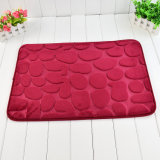Solid Flannel Memory Foam Bathmat
