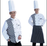 New Style Hotel Uniform for Chef in Blak and White