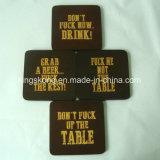 Set of 4 Wooden Coasters Drink Wine Glasses Beer Bottles, Wooden Coasters Wholesale