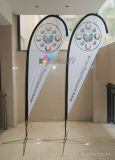 Outdoor Sales Promotion Advertising Full Color Printed Teardrop Beach Flag Banner