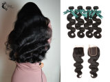 10A Indian Body Wave 100% Pure Hair Extension Natural Black Wholesale for Africans