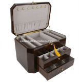 High Gloss Piano Finish Jewelry Packaging Box W/2 Drawers