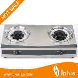 Double Burner Gas Stove, Bigger Fire, Stainless Steel (JP-GC200A)