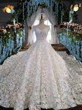 Royal Train Lace Wedding Dress 2017