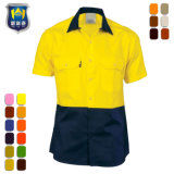 Cotton Orange Yellow Hi Vis Flame Resistant Work Shirts